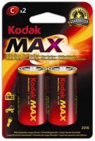 Alkalická baterie KODAK Max LR14/C malý monočlánek 2ks