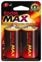 Alkalická baterie KODAK Max LR20/D velké monočlánky 2ks
