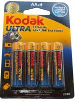Alkalická baterie KODAK Ultra Digital AA/R6 tužkové 4ks