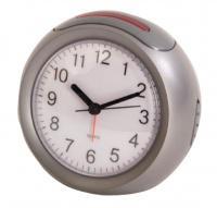 Stříbrný analogový budík HE-CLOCK-41 Balance