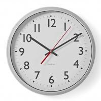 Nástěnné hodiny BXL - WC 10, stříbrná/bílá, 30 cm