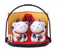 Maneki Neko Fukubuku - japonské kočky štěstí