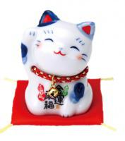 Japonská kočka štěstí Maneki Neko Kahou 6cm