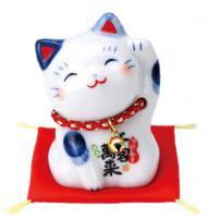Japonská kočka štěstí Maneki Neko Hitomaneki 6cm