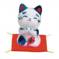 Japonská kočka štěstí Maneki Neko Onegai 6cm