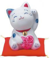 Japonská kočka štěstí Maneki Neko Koi 8,5cm