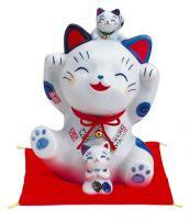 Japonská kočka štěstí Maneki Neko Shofuku pokladnička 20cm
