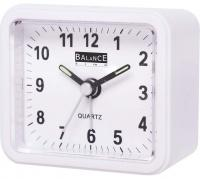 Analogový budík Quartz Balance Bílý