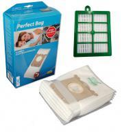 Ekonomická sada sáčků typu S-Bag a HEPA filtru pro vysavače AEG, ELECTROLUX, PHILIPS