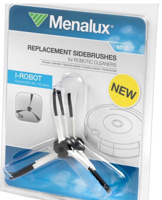 Postranní kartáč Menalux MRB 01 3ks pro robotický vysavač iROBOT Roomba 505 iROBOT