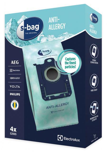 PHILIPS Textilní sáčky s-Bag E206 pro PHILIPS FC 8400 až FC8499 City Line Anti-Allergy 4ks