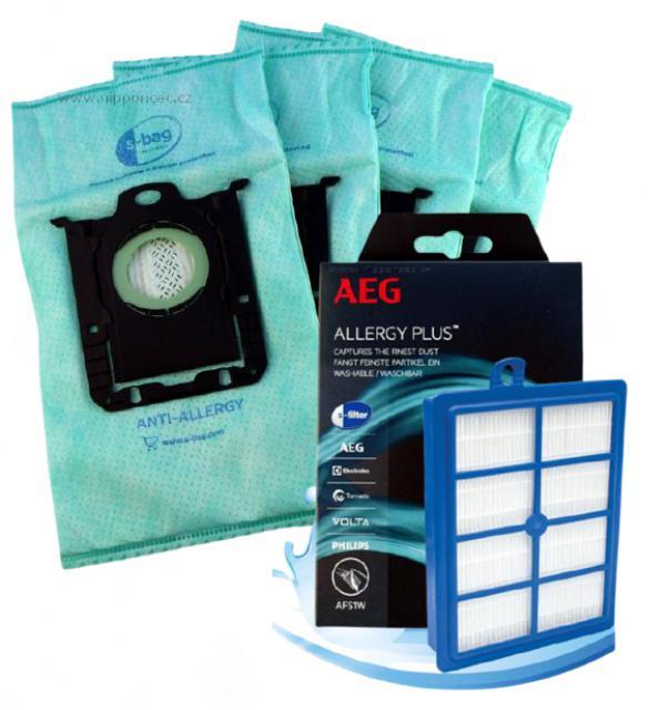 Electrolux sáčky E206 4ks a Allergy HEPA filtr pro PHILIPS FC 9060...FC 9069 Jewel PHILIPS