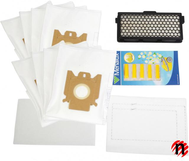 8 sáčků, HEPA filtr H12, filtry, vůně do vysavače MIELE S4, S5, S6, S8 - Menalux MSK2 Menalux