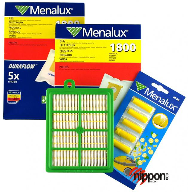 S-BAG sáčky 10ks pro Electrolux, AEG, Philips 10ks, HEPA filtr H12 + blistr vůní v originál sadě MENALUX MSK3 Menalux