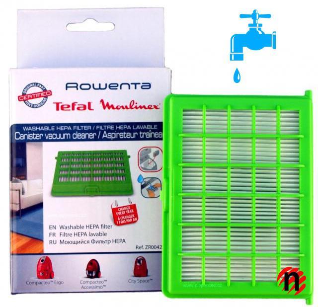 HEPA filtr ROWENTA ZR004201 pro vysavače Compacteo,Ergo,City Space omývatelný Rowenta