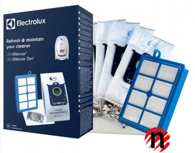 Hepa filtr H13 pro vysavače Electrolux UltraSilencer v sadě s 4 sáčky Sbag a vůní (USK9)