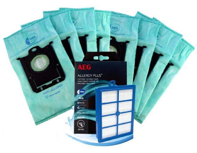 Electrolux Allergy sáčky s-bag E206 8ks + HEPA H13 pro PHILIPS FC 9060...FC 9069 Jewel PHILIPS