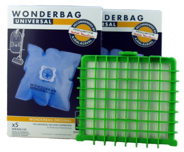 Sáčky ROWENTA Wonderbag Universal 10ks + HEPA filtr nipponcec.cz