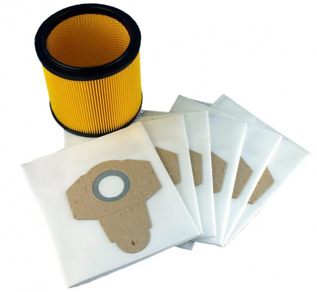 Sáčky + Filtr 91099009 do vysavače PARKSIDE, 6 + 1 ks Alafil