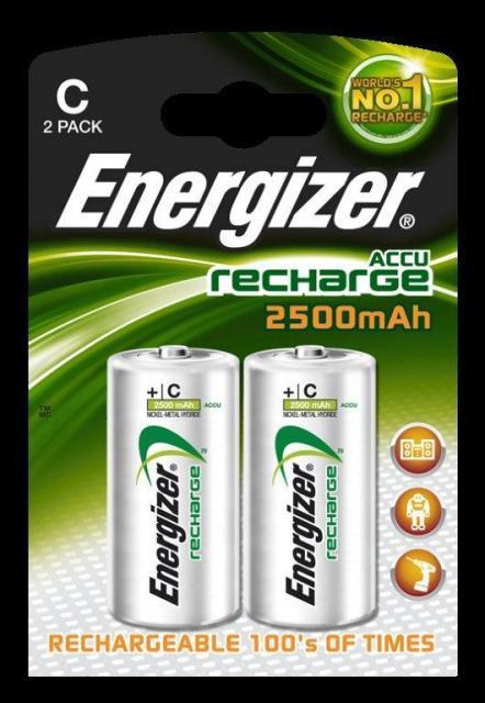 Baterie Energizer nabíjecí malý mono HR14/2500mAh 2ks Energizer