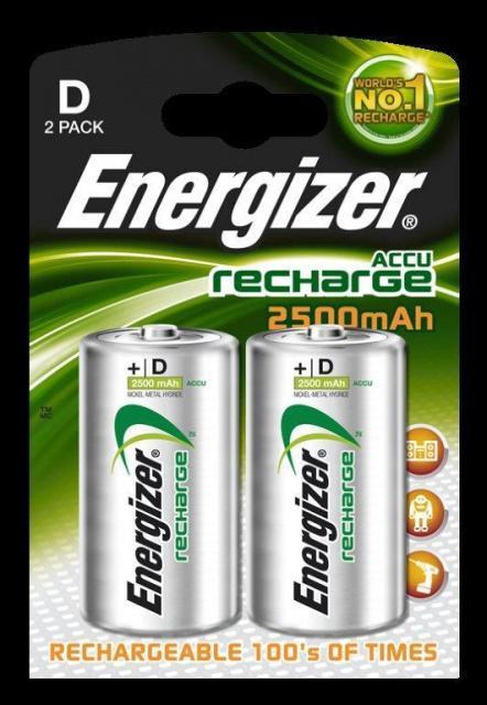 Baterie Energizer nabíjecí velké mono HR20/2500mAh 2ks Energizer