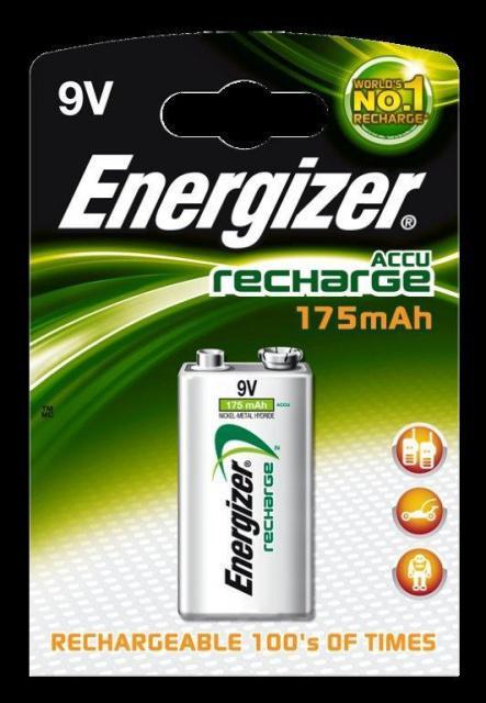 Baterie Energizer nabíjecí 9V / 175mAh 1ks Energizer