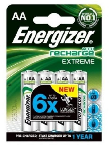 Baterie Energizer nabíjecí AA HR06/2300mAh 4ks Energizer