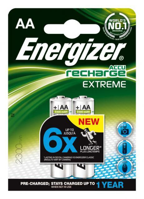 Baterie Energizer nabíjecí AA HR06/2300mAh 2ks Energizer