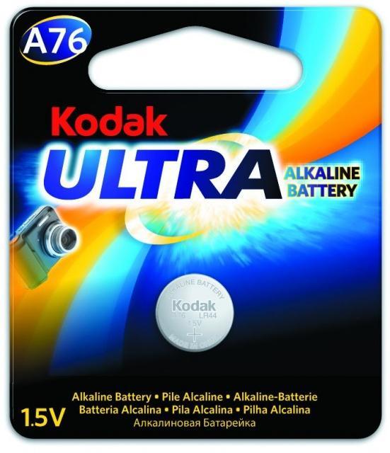 Baterie A76 KODAK (LR44,V13GA,PX76A, AG13), 1,5V - blistr 1ks Kodak