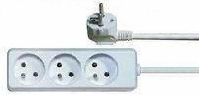 Prodlužovací kabel 5 metrů, 3 zásuvky bílý Emos