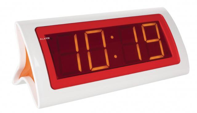 Červeno-bílý digitální LED Budík Balance Balance