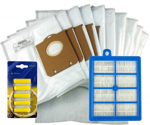 AEG Filtr HEPA pro AEG Viva Quickstop AVQ 2100 až 2190 a sáčky 1+10ks