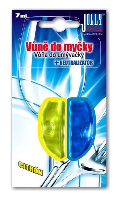 Jolly Vůně do myčky nádobí Citron + neutralizátor zápachu pro myčku 2v1 Jolly