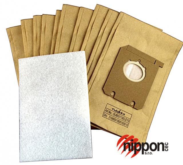 HQ Papírové sáčky do vysavače PHILIPS FC 9060...FC 9069 Jewel 10ks PHILIPS