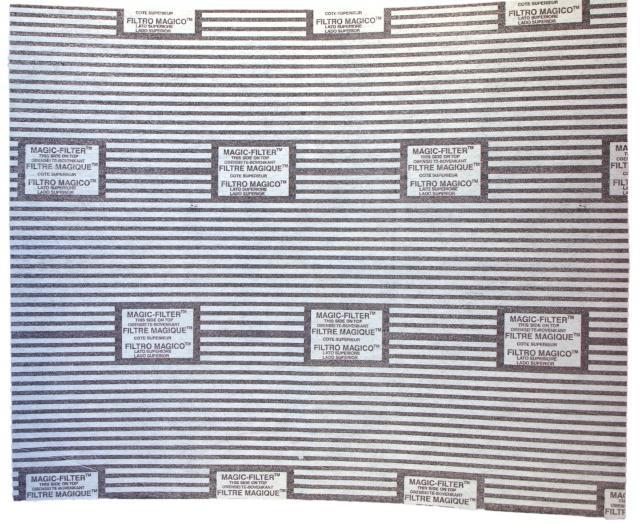 Tukový filtr do digestoře s ukazatelem nasycenosti 50 x 60 cm (2ks) Worwo F03 Worwo