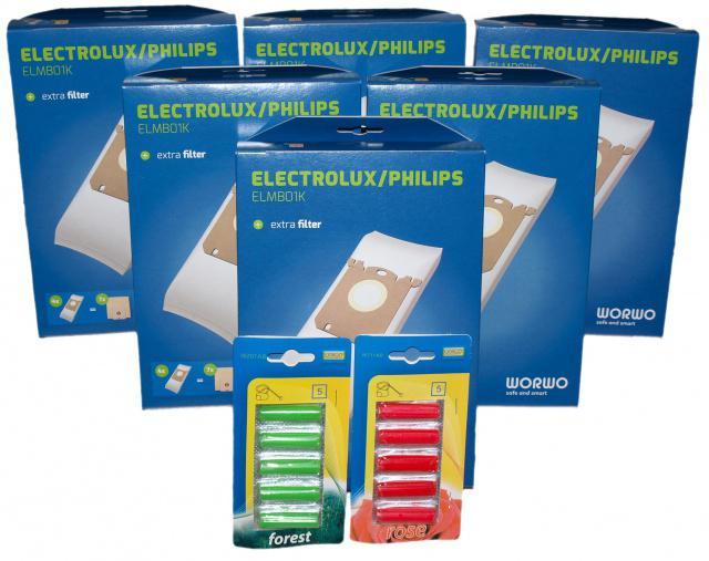 Sáčky do vysavače Electrolux a Philips, náhrada sáčků S-Bag, 24 ks Worwo